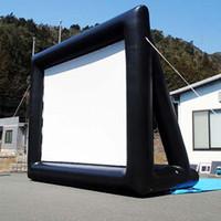 Infltable شاشة الستار 200 بوصة العرض المنزل المكتب محمولة في الهواء الطلق شاشة عرض 3D HD