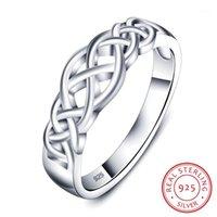 Whole SaleWomen 925 Anillos de plata esterlina Wave Knot Diseño único Mujer Joyería MEJOR REGALOS PARA LA NOVIA (RI101724) 1
