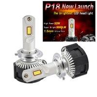 1 세트 H7 P18 LED 헤드 라이트 슈퍼 밝은 H4 H8 H9 H11 9005 9006 개 3/4 9012 개 HIR2 절단 라인 초점 빔 터보 팬 104W 18000LM
