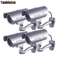 4 pçs / lote falso câmera manequim à prova d 'água à prova de segurança exterior cctv câmera de vigilância de cctv piscando vermelho LED Falso Segurança1