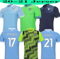 2020 2021 Top Latio Sergej 2020 2021 SS Latio F.Caicedo Immobile Correa Luis Alberto Soccer Jerseys 20 21 Hommes + Kit Kit Chemise de football