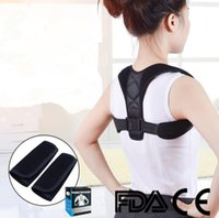 New Voltar Shoulder clavicularPosture Corrector cinta ajustável Adulto Segurança Sports Voltar Apoio Corset Spine Suporte Belt Postura Correction
