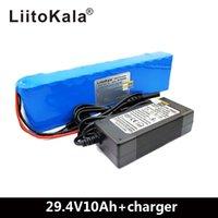モーターチェアセット電力+ 29.4V 2A充電器のためのLiitokala DC 24Vの電池15A BMS 250W 29.4 V 10000 MAH電池