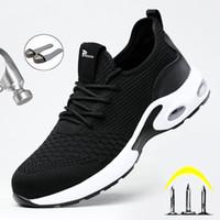 تنفس الرجال السلامة التمهيد الصلب تو الثقب العمل أحذية رياضية غير قابلة للتدمير رايدر 201019