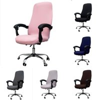 Soft Office Stretch Spandex Chair Covers Solid Anti- dirty Co...