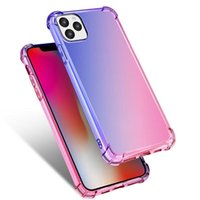 Grandient TPU Case Gradient Colors Anti Shock Airbag Clear Cases For iPhone 12 Mini 11 Pro Max XS XR 8 7Plus 6S Free Shipped