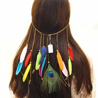 الرجعية ريشة الطاووس الشرابة أغطية الرأس عقال أزياء غطاء الرأس أزياء عقال شعر النساء الأزياء والاكسسوارات والمجوهرات 120025