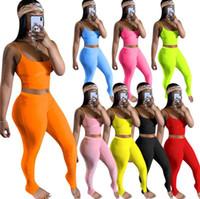 Atacado Sexy Womens Dois 2 Parte Set Calças Longas Roupas Empréstimos de Envolvimento de Vestuário Designer Casual Terno Verão Mulheres Calças