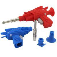 DHL-freier Silikon-Nektar-Kollektor-Kit-Ray-Gun Rauchen Mini-NC-Set mit Edelstahl-Nagel-Kollektion Öl-DAB-Handrohr