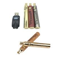 Knuckles en laiton Kit de batterie 900mAh Voltage variable Préchauffe E-Cigarette VV 510 Batteries de Vape Cartouche d'huile épaisse