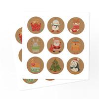 Яблоки Рождественские подарочные пакеты Vintage Kraft Paper Candy Case партия подарков Xmas Санта снеговика мешок руки сверток украшения GGE1878
