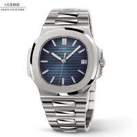 Movimiento japonés Langsige LGXIGE All Steel Men's Watch Fashion Luxury Nautilus Watch Men's New