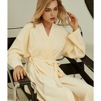 wedding pajamas women autumn Long sleeve Nightgown bride mor...