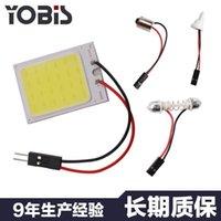 긴급 조명 100pcs COB LED 패널 라이트 슈퍼 화이트 자동차 독서지도 램프 자동 돔 인테리어 전구 T10 어댑터 Festoon Base 12V DC1