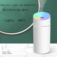250ml 미니 침묵의 초음파 공기 가습기, 방향족 에센셜 오일 디퓨저, 방향족 치료 스프레이 가습기, 주택 차를위한 LED 빛,