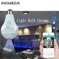 INQMEGA LED LIGHT 960P Conexión inalámbrica a internet WiFi CCTV FishEye Bombilla Lámpara IP Cámara IP de 360 grados Cámara de seguridad para el hogar1