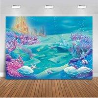 Materiał tła Mehofoto 7x5ft Pogation Pod Me Sea Castle Backdrop Bubble Bubble Birthday Party Po Studio Booth Born1