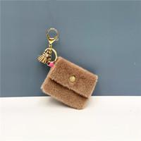 الإبداعية البسيطة عملة المحفظة سلسلة المفاتيح اللون حلوى لطيف عملة مفتاح القضية قلادة كابل بيانات التخزين حقيبة مفتاح سلسلة 7 8.5CM *