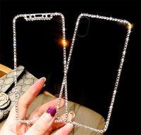 Protections d'écran de téléphone portable diamant Verre trempé Trois couleurs Accessoires de téléphone portable pour Apple iPhone XS XS