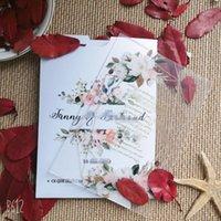 Все проекты Карманный конверт с печатью логотипа, прозрачные акриловые свадебные приглашения, День рождения, карты меню
