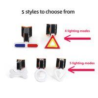 LED Vélo Light Flash Tail arrière Lumières de vélo USB Charge USB Multi lumineux Modes Flash Lumière pour montagnes Vélo SEATPOST CYCLINGHHD4794