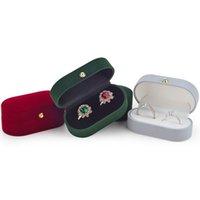Mode-sieraden organizer fluwelen trinket doos dubbele ringen doos sieraden dozen bruiloft cadeau box case joyos organorador de joyas