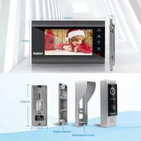 FreeShipping Home Intercom System Wireless WiFi Smart IP Video Doorbell 7 Inch with 1x1200TVL Wired Door Phone Camera
