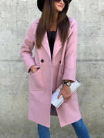 Fashion Style Femmes Manteaux Porter un vêtement à manches longues avec double col-vêtement sur mesure Trench extérieur Manteaux d'hiver de neige Taille M-2XL