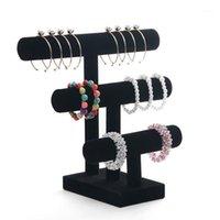 Sieraden zakjes, tassen 2 of 3 Tier T-bar armband display standhouder voor opslag sieraden Juwelen OPbergen Organorador Joyas1