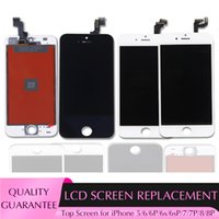 Высококачественные ЖК-дисплей Сенсорные панели Digitizer Сборка Смена Запасные части для iPhone 6 6s Plus 7 8 / 8P Бесплатный DHL
