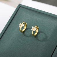 Carino orecchini a cerchio a farfalla per donne uomini zirconi zircone animale anello femminile anello orecchio coreano orecchini moda gioielli 2021 Bijoux femme