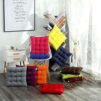 Addensare casa ammortizzatore di sede di rilievo di 40x40cm Quadrato Soft Ufficio Bar sedia cuscini di seduta solido Colore divano cuscino ammortizzatore della sedia Glutei VT1985