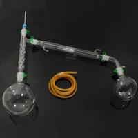 24/29 1000ml Düz Tabanlı Flask + 40/38 Tüp Distilasyon Lab Okulu Kaynağı ile Lab Züccaciye Soxhlet Extractor Kondenser Seti
