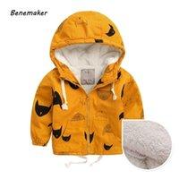Benemaker Зимний флисовые куртки для мальчика траншея детская одежда 2-10Y теплой верхней одежды Windbreaker детские детские пальто JH019 LJ200831