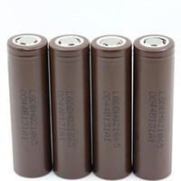 جودة عالية HG2 IMR 18650 البطارية البني 3000 مللي أمبير 20A 3.7 فولت عالية استنزاف قابلة للشحن ليثيوم vape mod البطارية ل LG