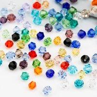 1000 adet / grup 16 Renkler Faceted Çek Kristal Bicone Boncuk 4mm # 5301 DIY Takı