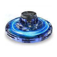 Flynova Mini LED OVNI Finger Spinner Flying Spinner Devolviendo Gyro Niños Juguete Niño Regalo de Navidad Separado al aire libre Drone Gaming LJ201216