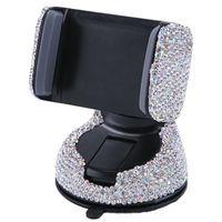 Titulaire de téléphone de voiture de 3 sur 1 à 360 degrés pour le tableau de bord de voiture Auto Windows et l'évent d'air avec support de téléphone de diamant cristal bricolage