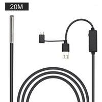 Камеры USB Мобильные телефоны Водонепроницаемый 3 в 1 Интерфейс Осмотр автомобиля Борескоп Промышленный 720P Светодиодные фонари для Android1