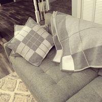 Lettre couverte couverture foulard en laine soft châle portable chaude plaid canapé-lit en molleton printemps automne femmes jettent des couvertures
