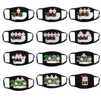2020 عيد الميلاد قناع الوجه أقنعة الناجون القطن الناجي من أقنعة الأسرة تنفس الفم تغطية أسود Dustpoof الوجه أقنعة LSK1645
