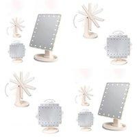 22 LED Pantalla táctil de maquillaje espejo Profesional Vanity Mirror Lights Health Beauty Ajustable Encimera 180 Rotación 69 P2