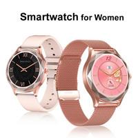 المرأة الذكية ووتش القلب معدل ضغط الدم مراقب الرياضة اللياقة المقتفي IP67 بلوتوث smartwatch عيد الحب فتاة صديق هدية