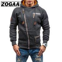 Sweats à capuche pour hommes Sweatshirts Hommes Casual Diagonal Zipper Sweat Sweat-shirt à manches longues Décoration de poche Solide Couleur Solide PLUS Taille S-4XL