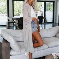 2020 BKLD Autumn Women thin Mid-Length coat solid color long sleeve cardigan casual streetwear Wind Retro Chic Temperament