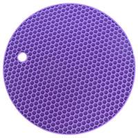Çok fonksiyonlu Yuvarlak Silikon Kaymaz Isıya Dayanıklı Silikon Masa Paspaslar Coaster Yastık Yer Mat Pot Tutucu Mutfak Aksesuarları 188 K2