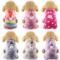 Ropa de perro pijamas fleece mono de invierno ropa de perro de invierno cuatro piernas caliente ropa ropa ropa pequeña perro prendas de disfraces
