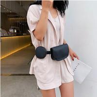 Bolsas de la cintura Vintage Fanny Pack de lujo PU de cuero de la PU cinturón de moda diseñador de moda Mini bolso de pecho redondo femenino bolsa casual monedero monedero