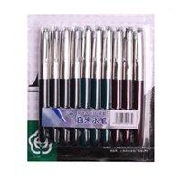 10pcs / emballage stylo de fontaine de héros 0.5mm Capuche à capuche NIB NIB Company Stylos à encre pour écriture Fournitures de bureau scolaire1