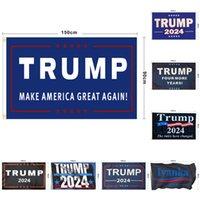 Президент Дональд Трамп избирательные флаги Много стиль 2024 Держите Америку Большое снова Выборы Баннер Рука Флаг Новая Горячая распродажа 12LS P2